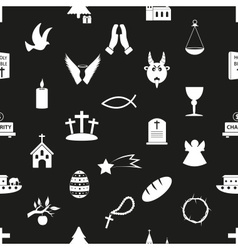 christianity religion symbols black and white vector image vector image