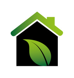 color silhouette with ecological house vector image
