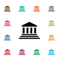 isolated court icon bank element can be vector image vector image
