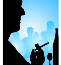 man drinking vector image vector image