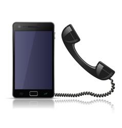 old school telephone handset for smartphone vector image