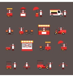 Street food icon flat vector image vector image