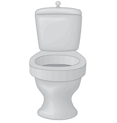 Toilet bowl vector image vector image