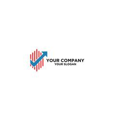 accountant checklist logo design vector image