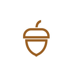 acorn icon design template isolated vector image
