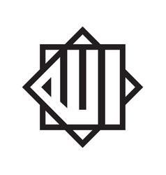 Allah calligraphy pictograph logo icon vector
