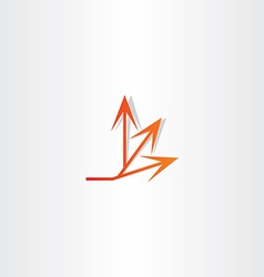 Arrow spread icon design vector