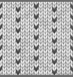 black and white norway sweater fairisle design vector image