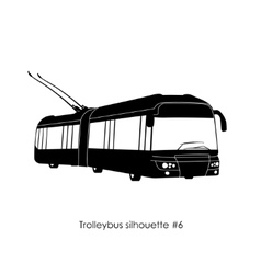 Black silhouette of trolley bus vector