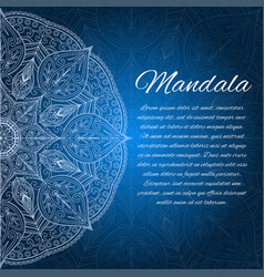 card with glow mandala geometric circle element vector image