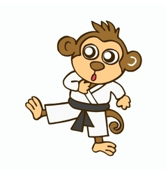 cartoon martial monkey vector image