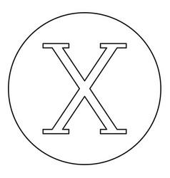 Chi greek symbol capital letter uppercase font vector