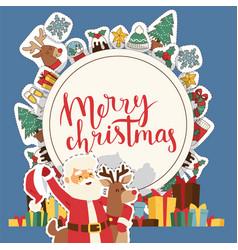 christmas 2019 happy new year greeting card santa vector image