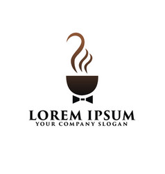 coffee business with tie logo design concept vector image