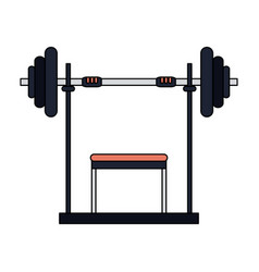 color image cartoon weight lifting machine vector image