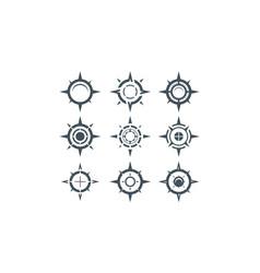 compass logo icon vector image