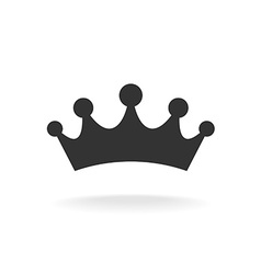 crown of earl black isolated silhouette vector image