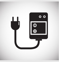Digital camera battery charging icon on white vector