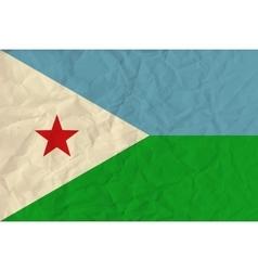 Djibouti paper flag vector