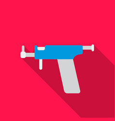 ear piercing gun icon flate single tattoo icon vector image