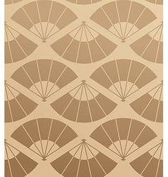 Elegant Japan fan seamless pattern vector image