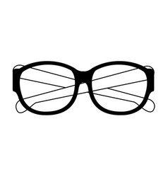 Executive glasses accesorie isolated cartoon vector