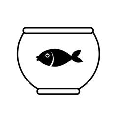 Fish in aquarium icon vector