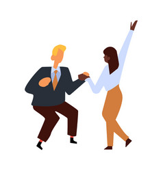flat business people corporate party dance vector image