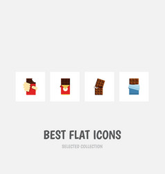 Flat icon bitter set of shaped box wrapper vector