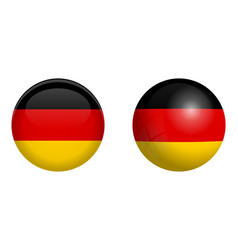 germany flag under 3d dome button and on glossy vector image