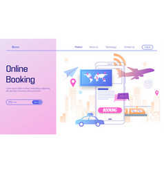 go travel online booking on smartphone concept vector image