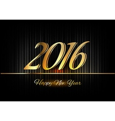 Gold New Year 2016 Luxury Symbol vector image
