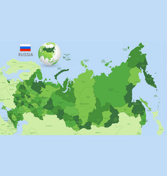 green russia administrative map vector image