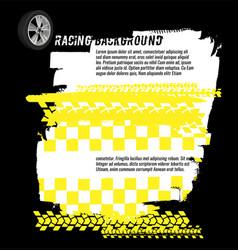 Grunge checkered racing banner vector