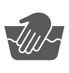 hand washing glyph icon laundering and wash hand vector image