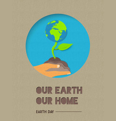 happy earth day world nature quote vector image