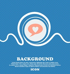 Heart sign icon Love symbol Blue and white vector image
