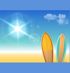 holidays vintage design - surfboards on a vector image