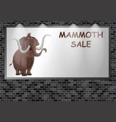 illuminated advertising billboard mammoth sale vector image