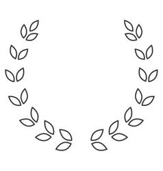 laurel wreath symbol vector image