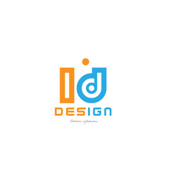 Ld l d orange blue alphabet letter logo vector