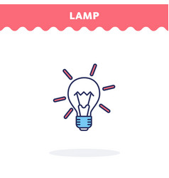 light bulb icon flat design ui icon vector image