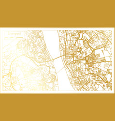 Liverpool england city map in retro style in vector