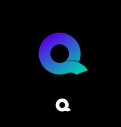 logo q violet green vector image