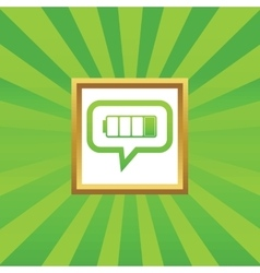 Low battery message picture icon vector