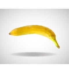 low poly banana vector image