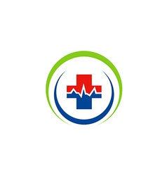 medic cross sign hospital logo vector image