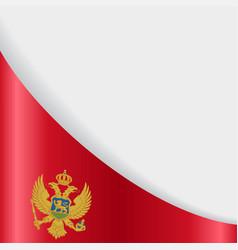 Montenegro flag background vector