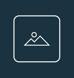Mountain icon line symbol premium quality vector