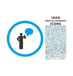 Person Idea Rounded Icon with 1000 Bonus Icons vector